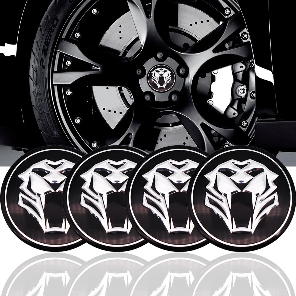 Tiger head Car Steering tire Wheel Center car sticker Hub Cap Emblem Badge Decals Symbol For Jaguar Hubcap Audi BMW Nissan Ford