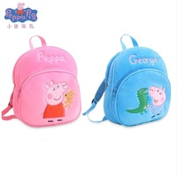 New Arrival Genuine peppa pig toys peppa George plush backpack high quality Soft Stuffed cartoon bag Doll For Children kids toys