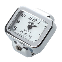 Quartz Watch Ring watch Digit Dial Arabic Rectangle White Un