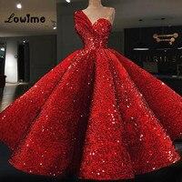 Бальное платье красного цвета с блестками Выпускные платья Праздничное платье Abiye пышные вечерние платье 2018 Couture Абаи Ближний Восток Для же
