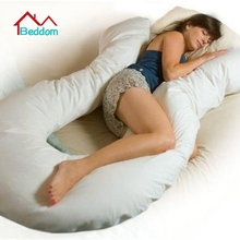 Beddom Pregnant Pillow U-Shape Body Pregnancy Maternity Pillow Full Support Zippered Cover,Cotton Side Sleepers Pregnant Pillow