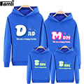Famli 1pc Dad Mom Baby Matching Hoodies Outfits Autumn Winter Family Mom Kids Boy Girl Fashion Letter Print Cotto Sweatshirts
