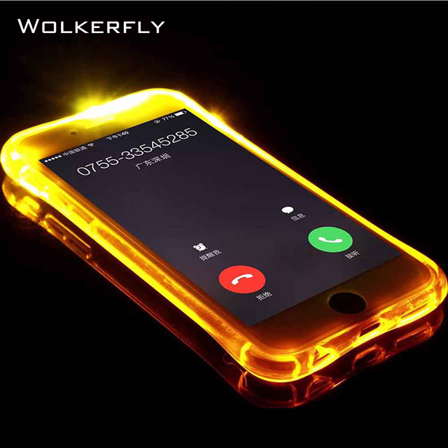 promo code 9f006 6a464 US $1.51 24% OFF|For iPhone XS Case LED Flash Light Phone Case For iPhone X  XS Max 6 6Plus 5 Luminous Glitter Clear Case for iPhone 7 8 Plus Case-in ...