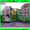 Inflatable Jumping Castle Green Cartoon Printing Inflatable Bouncy House inflatable bouncer house