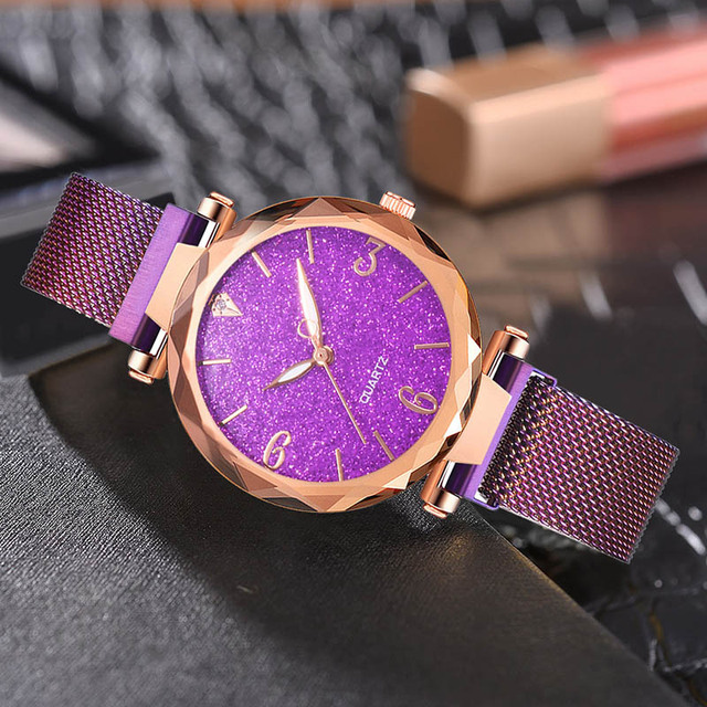 Rose Gold Women Watch 2019 Top Brand Luxury Magnetic Starry Sky Lady Wrist Watch Mesh Female Clock For Dropship relogio feminino 3