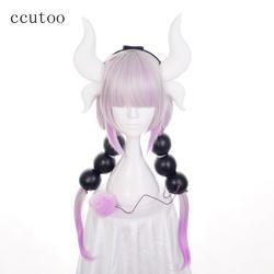 Ccutoo мисс Кобаяши Дракон горничной Канна Камуи синтетические волосы термостойкость косплэй парик + набор аксессуаров