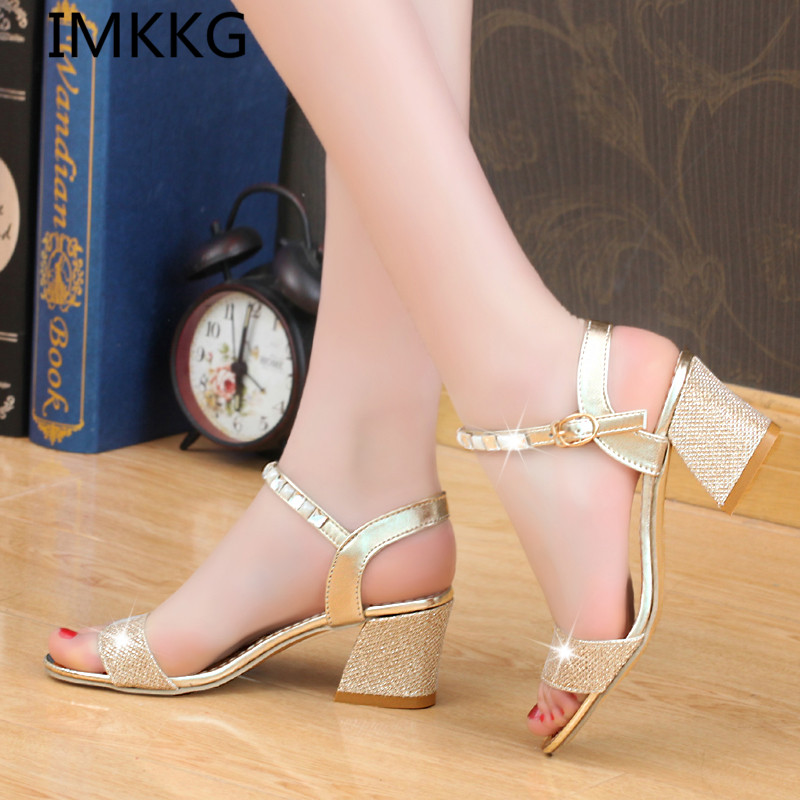 IMKKG 2017 Women Sandals Sexy Summer High Heels Ladies Fashion women sandals Shoes Chaussure Femme shoes S298-in Middle Heels from Shoes on Aliexpress.com | Alibaba Group