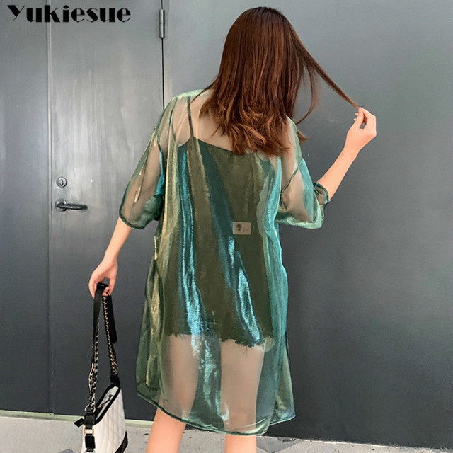 2019 summer women's shirt blouse for women blusas woman womens tops and blouses mujer lace mesh shirts ladie's top plus size 6