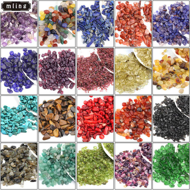 mling 100g Natural Degaussing Crystal Gravel Purple Yellow Red Agate Tourmaline Crushed Stone White Crystal Gravel