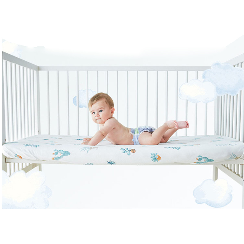 2019 Hot Knitted Cotton Baby Crib Sheets Breathable Baby Bed Mattress Cover Protector Soft Baby Crib Sheets Newborn Bedding