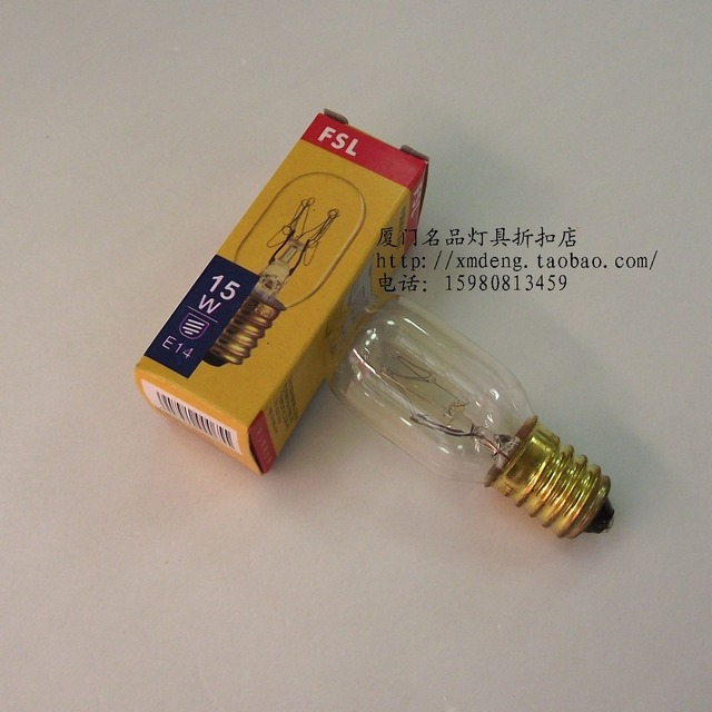 Fsl e14 15w oven light bulb microwave oven range hood light bulb
