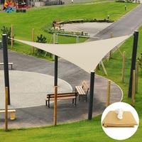 Tewango Garden Sail Shade Sunscreen Patio Canopy Trangle Awning 95% UV Block Outdoor Heavy Duty SunShade Sail HDPE 3X3X3M