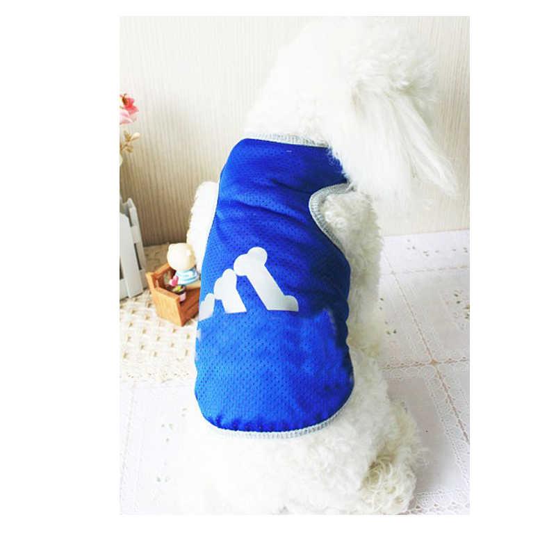 SUPREDOG köpek yelek örgü yelek moda açık spor yelek yaz serin Teddy yelek futbol futbol forması giysileri küçük köpekler için