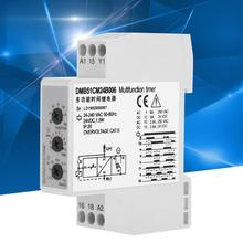 Time Relay Switch DC 24V AC 24-240V Multi-voltage Delay OFF w/ 7 Function Choices LED indication