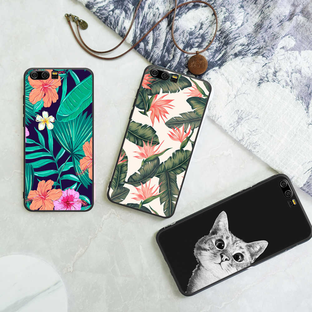 Motjerna Lovely Pattern TPU Case For Huawei Honor 9 8 Lite Pineapple Leaf Painted Silicone Matte Coque Shell For Honor 9 9i Capa