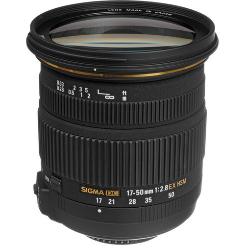 Ogromny Sigma 17 50 Sigma 17 50mm f/2.8 EX DC OS HSM obiektyw do Nikon EJ11