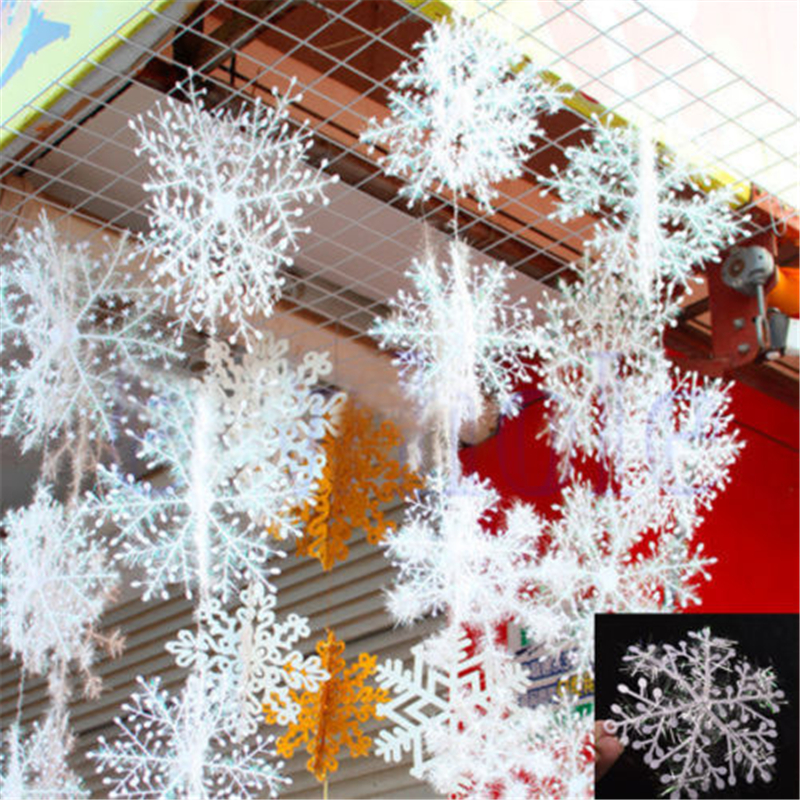 Snowflake Ornaments Christmas Home Decor Plastic Xmas Tree Decorations  Floco Seasonal Free Shipping N872 In Pendant U0026 Drop Ornaments From Home U0026  Garden On ...