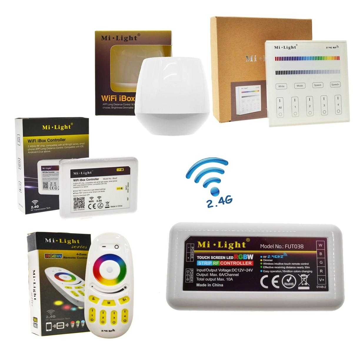 Mi Light RGBW LED Controller RF 2.4G / Wifi Remote Control DC12-24V for RGB RGBW LED Strip