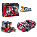 Decool 3354/3360 Technic Race Truck Car 2 In 1 Transformable Model Building Block Sets DIY Toys compatiable with lego