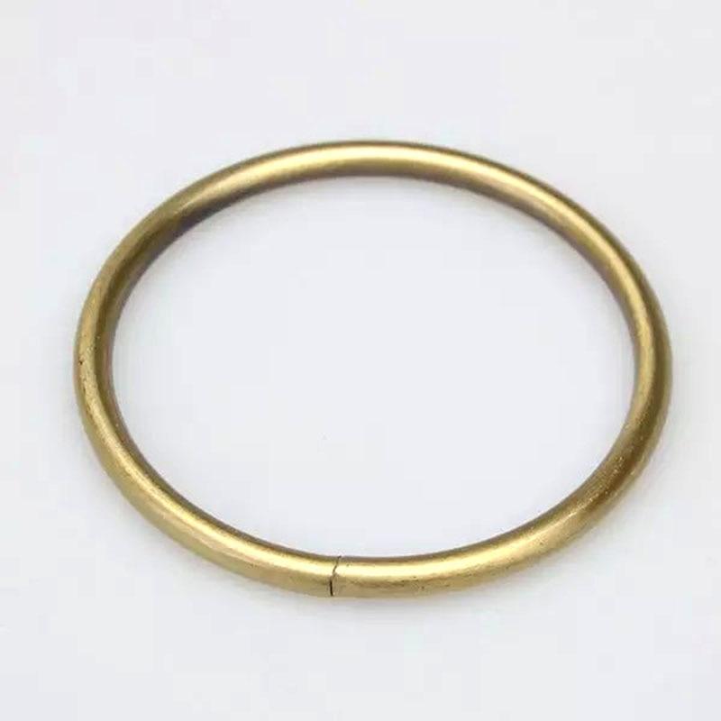 """2 """" металл о-кольца номера сварные бронзовая покрытием"""