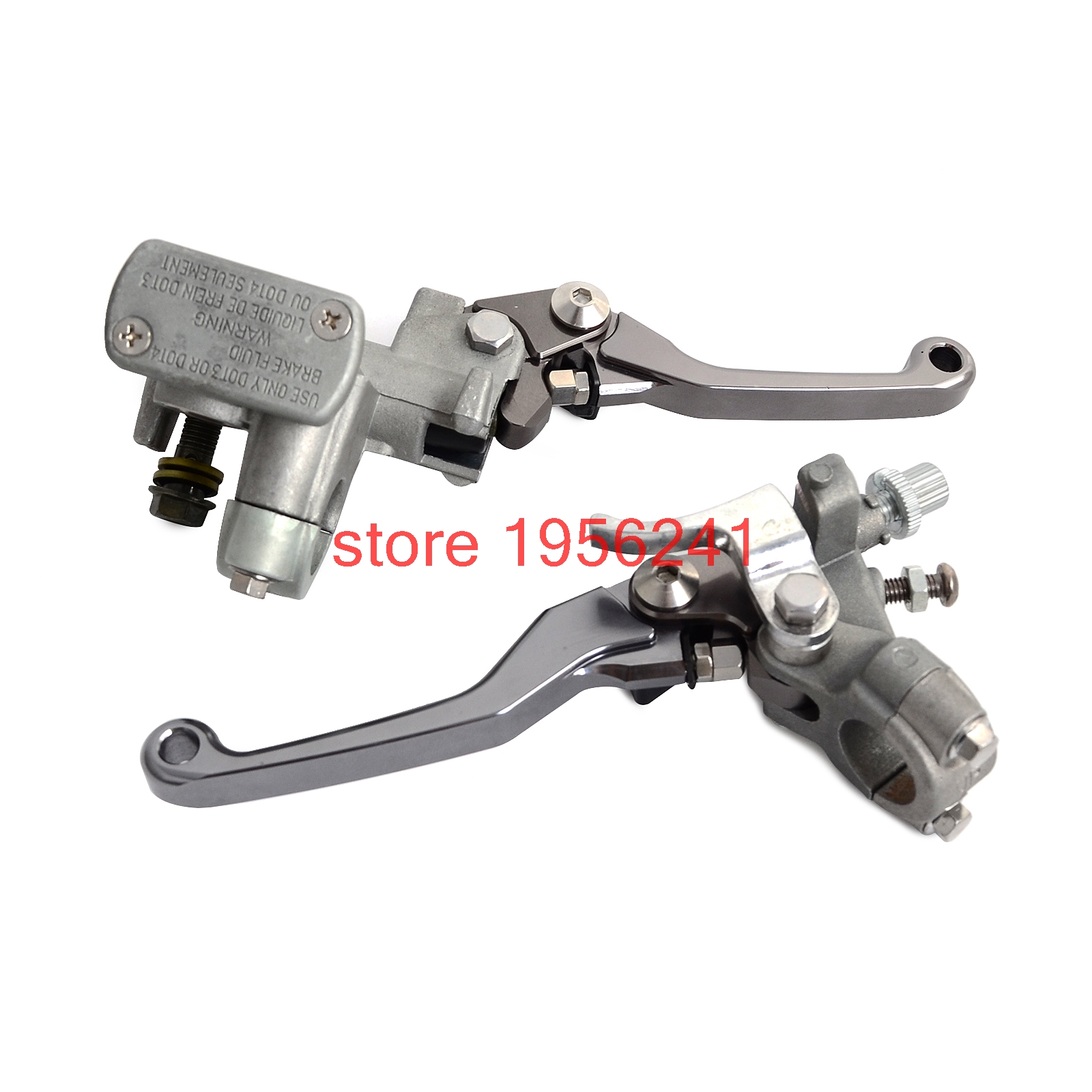Titanium Brake Clutch Master Cylinder Lever For Honda CR125R CR250R CR500R CRF150R CRF250R CRF250X CRF450R CRF450X NEW cnc offroad mx clutch brake levers for honda cr125r 04 07 cr250r crf250r 04 06 crf450r 04 06 crf250x 04 16 crf450x 05 16