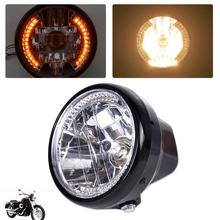 DWCX 7 Clear Motorcycle LED Headlight Halogen Turn Signal Indicators Blinker for Harley Yamaha Honda Suzuki Bandit Kawasaki