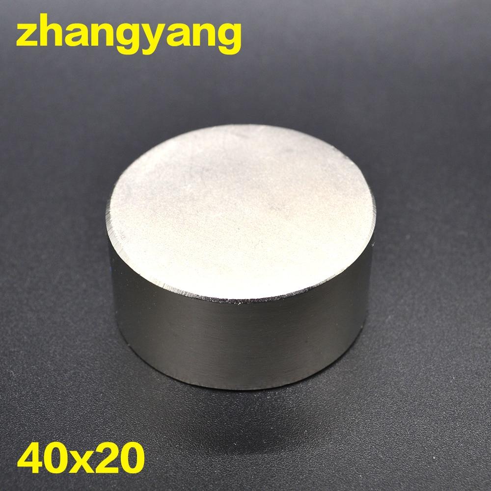 Kostenloser versand 1 STÜCK hot magnet 40x20mm N38 Runde starke magneten starken neodym-magnet 40x20mm Magnetischen metall 40*20mm