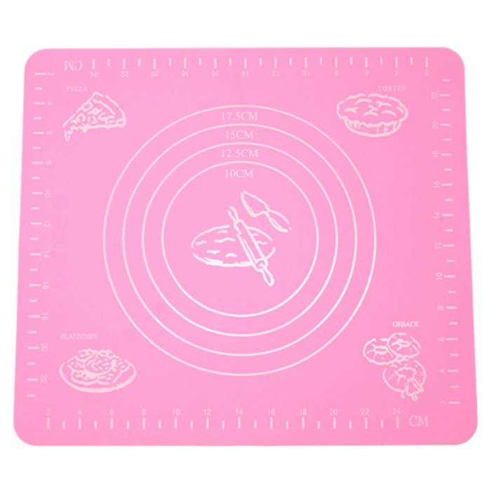 Mat Silicone Foil Color Pink Reusable Kitchen Cooking Pastry Pate