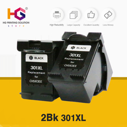 QSYRAINBOW ตลับหมึก 2 Pack ตลับหมึกสำหรับ HP 301 301XL INK Deskjet 1050 2050 3050 2150 1510 2540 เครื่องพิมพ์