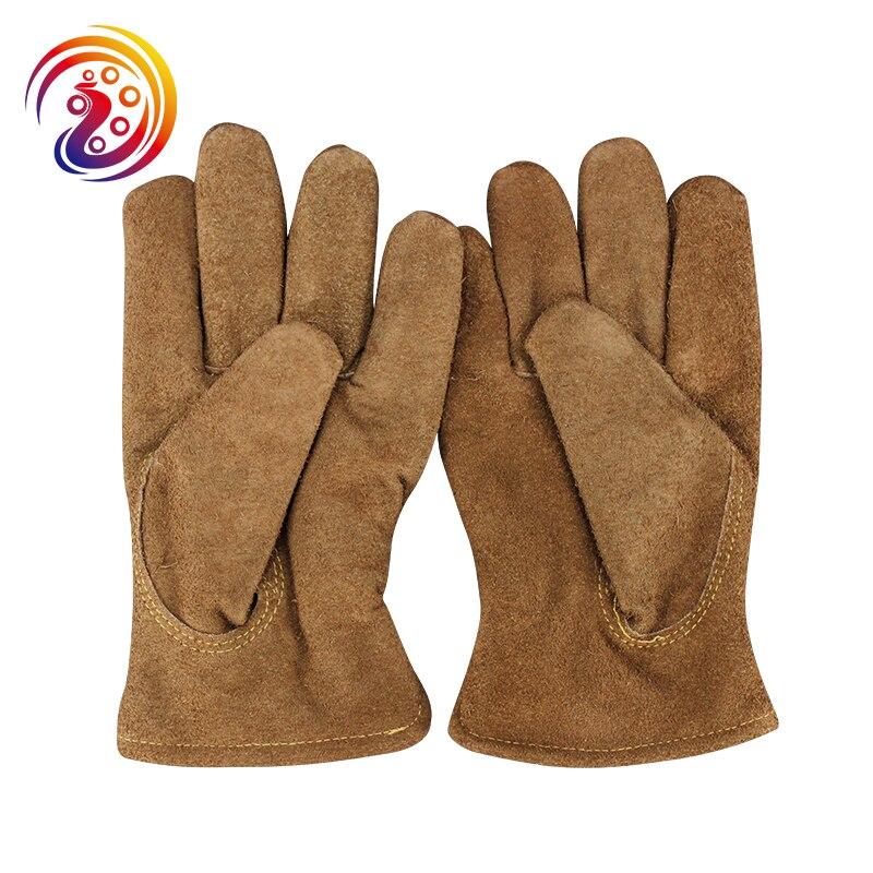 OLSON DEEPAK Cow Split Leather Warm Gloves Factory Driving Gardening Carrying Work Gloves HY015 Free Shipping gurpreet kaur deepak grover and sumeet singh chlorhexidine chip