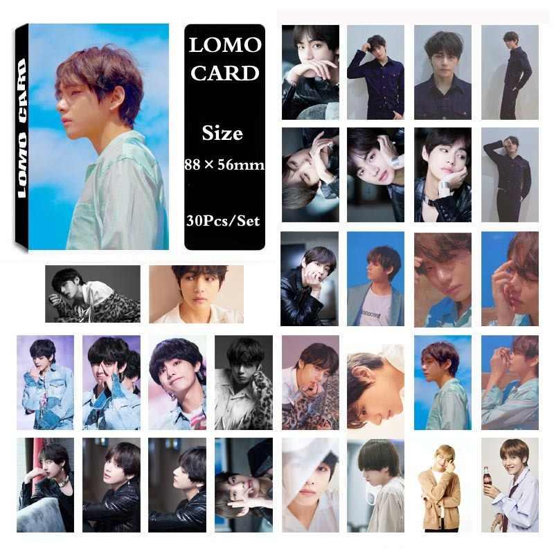 KPOP BT Bangtan Boys LOVE YOURSELF Tear альбом самодельная бумага Lomo карта фото плакат в виде карты HD фотостудия 30 шт