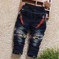 El envío libre 2016 nuevos pantalones de las muchachas de las bragas del bebé primavera/otoño recién nacido, infantil, bebé ocasional pantalones Vaqueros chicos pantalones Engrosadas 32