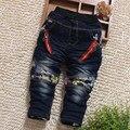 O envio gratuito de 2016 calças novas do bebê meninas calça primavera/outono casual calças recém-nascidas calças infantis calças Jeans meninos calças Espessas 32