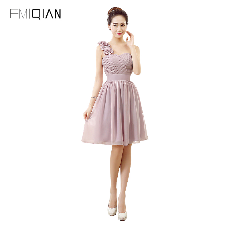 Original Design A Line One Shoulder Chiffon Cocktail Party Dresses
