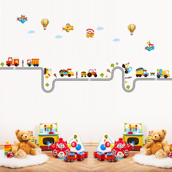 Can remove the wall stickers wholesale The kindergarten children room decoration on Cartoon car