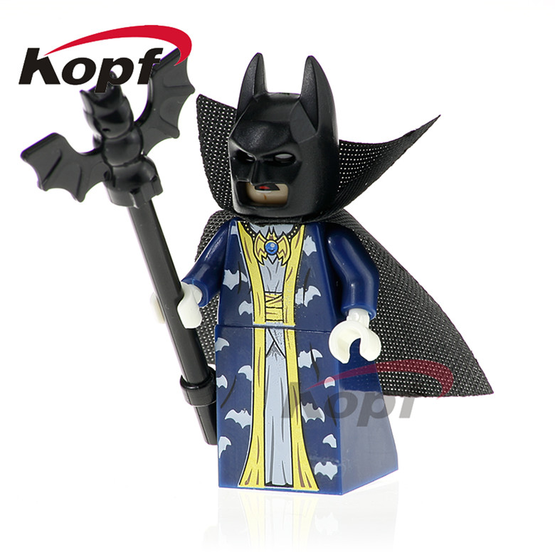 20Pcs Building Blocks Super Heroes Master Batman Apache Chief Crazy Quilt Green Arrow Bricks Collection Toys for children PG423