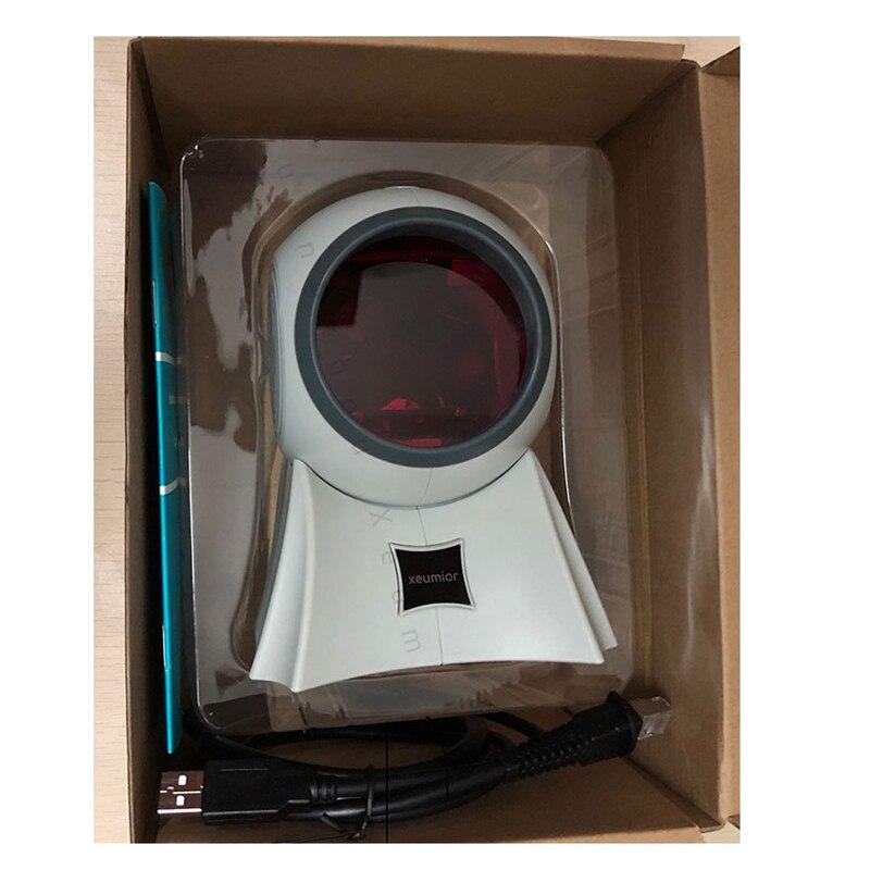 20 linee USB/RS232/PS2 Desktop Omnidirezionale 1D Laser Scanner di Codici A Barre POS Lettore di Codici A Barre per la Vendita Al Dettaglio/ supermercato - 5
