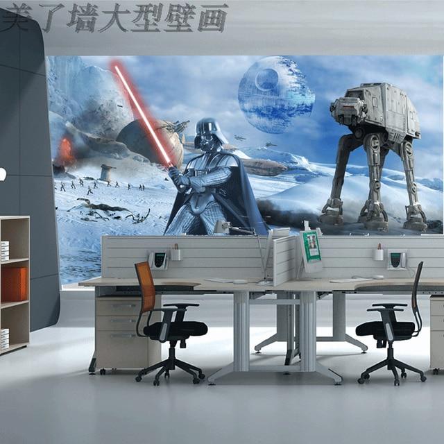 Free shipping Star wars Star Wars sci-fi universe wallpaper office space warfare personalized theme mural custom  size