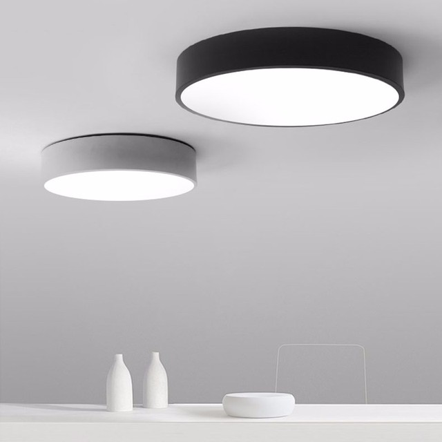 Kitchen Ceiling Fixtures Best Cleaner For Cabinets Aliexpress Com Buy Lamps Simple Ceilng Light Flush Mount Led Lampara De Techo Round Surface Lights
