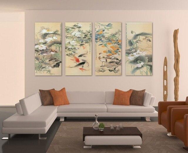 de la lona pintura cuadros grandes de pared cuadros para la sala de peces koi