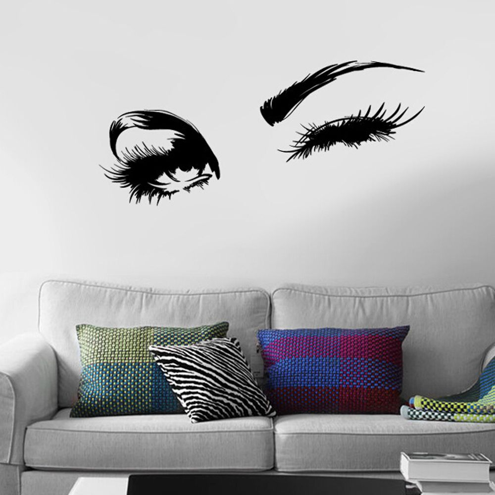 1 pc high quality sexy beautiful eyes wall sticker quotes for Bedroom 3d wall stickers