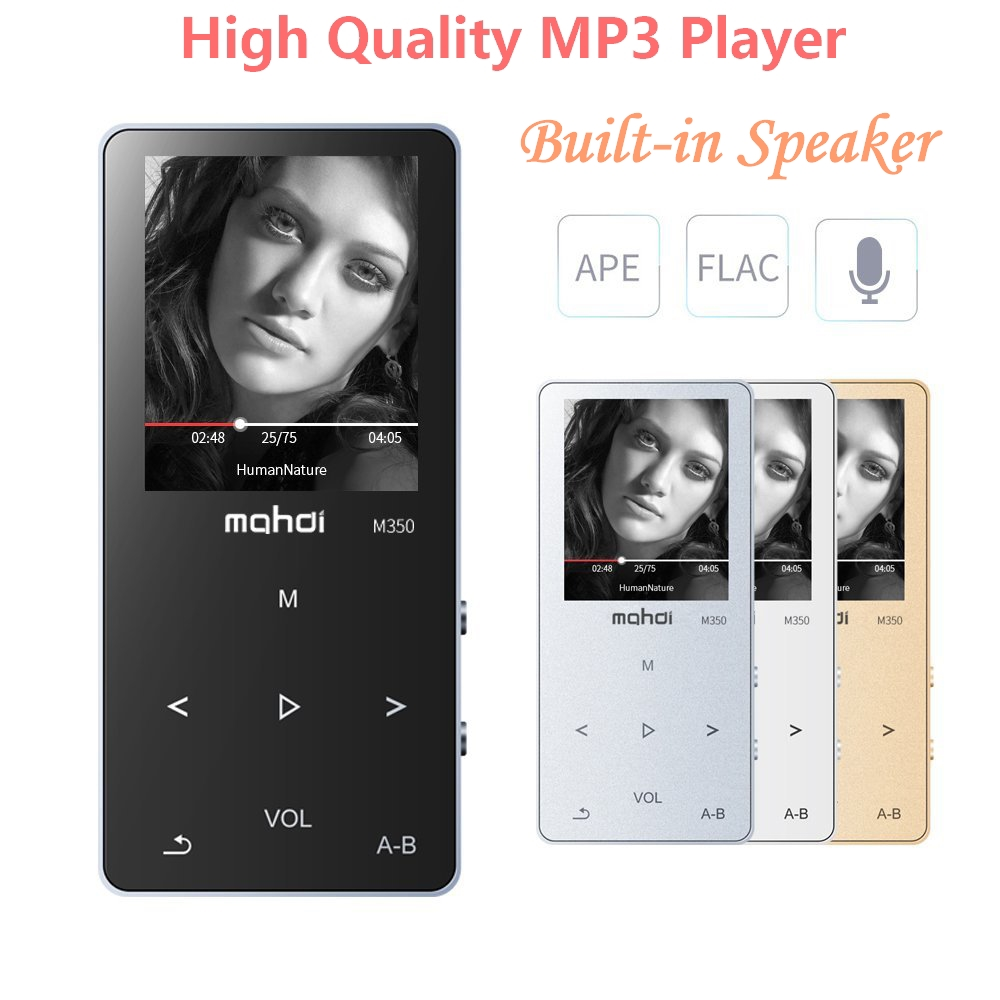 New All Metal MP3 Player Built-in Speaker 8GB High Sound Quality Entry-level Lossless Music Player with FM Radio Voice Recorder