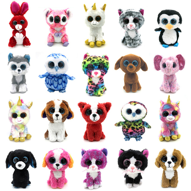 20 Styles 15cm Ty Beanie Boos Animal Unicorn Cute Husky Dog Rabbit Soft beanie  boo Owl 10dfe43c741a