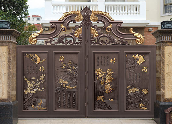 Home Aluminium Gate Design / Steel Sliding Gate / Aluminum Fence Gate Designs Hc-ag14