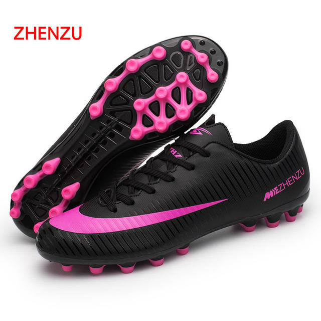 c5fa97669e4 ZHENZU Football Shoes Men Soles Anti Slip Professional Training Sneakers  Sports Soccer Shoes crampons crampons de foot Botas. Price