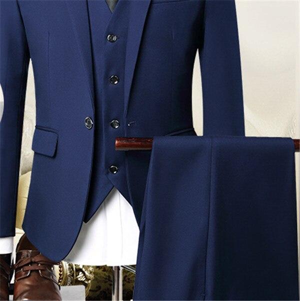 Dernières manteau pantalon conceptions Beige hommes costume de bal smoking Slim Fit 3 pièces marié mariage costumes pour hommes personnalisé Blazer Terno Masuclino - 4