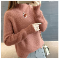 Carol Diaries Winter Autumn Women Sweater Pullover 2018 New Fashion Turtleneck Loose Bottom Sweater Plus size Women Clothing