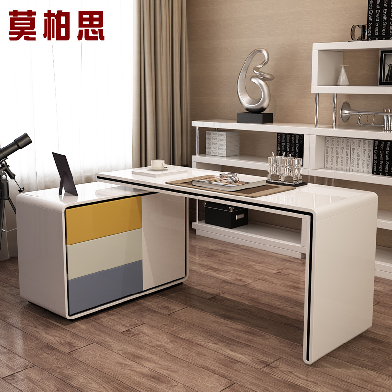 air paint color rotating bookcase desk student home computer bedroomchina mainland bedroom office desk