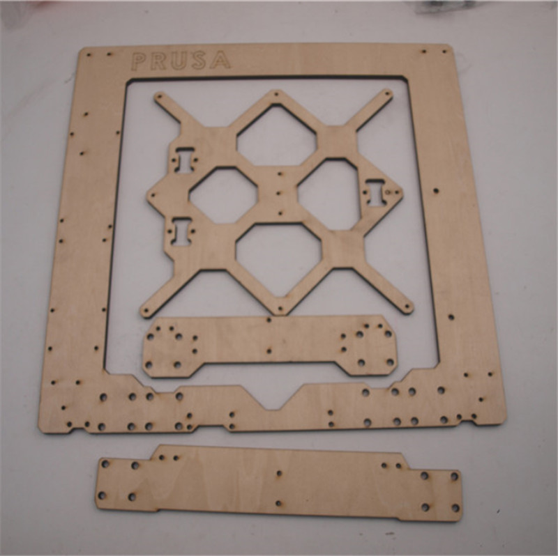Funssor Prusa i3 MK3 wooden frame kit 6mm thickness Prusa i3 MK3 Frame 1set aluminium alloy prusa i3 mk3 frame kit with m5 tapped extrusions 6mm thickness