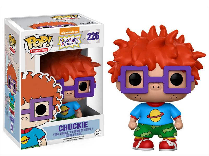 Funko pop Official Television Rugrats - Chuckie Vinyl Action Figure Collectible Model Toy with Original Box  funko pop zootopia fox nick 186 pvc action figure collectible model toy 10cm kt2247